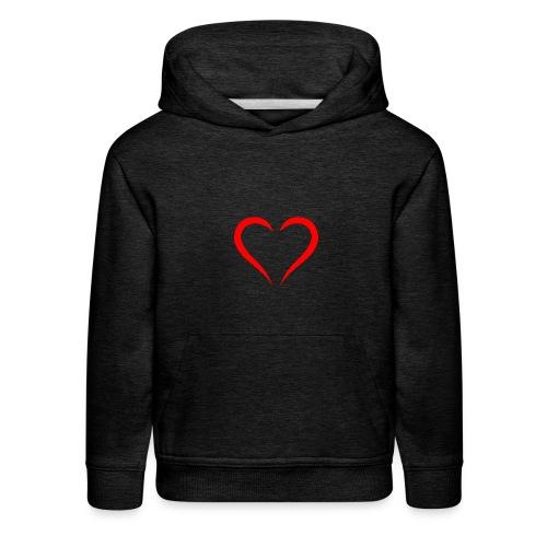 open heart - Kids' Premium Hoodie