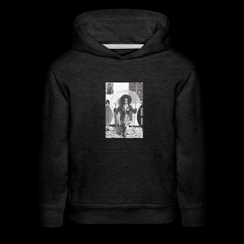 Lady Panther in a Chair - Kids' Premium Hoodie