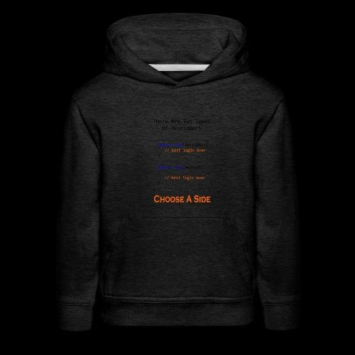 Code Styling Preference Shirt - Kids' Premium Hoodie