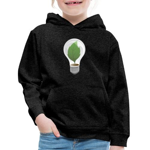 Clean Energy Green Leaf Illustration - Kids' Premium Hoodie