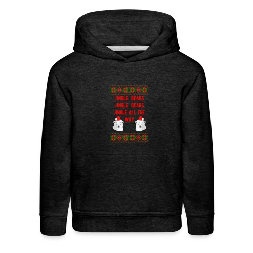 Jingle Bear (Red Text) - Kids' Premium Hoodie