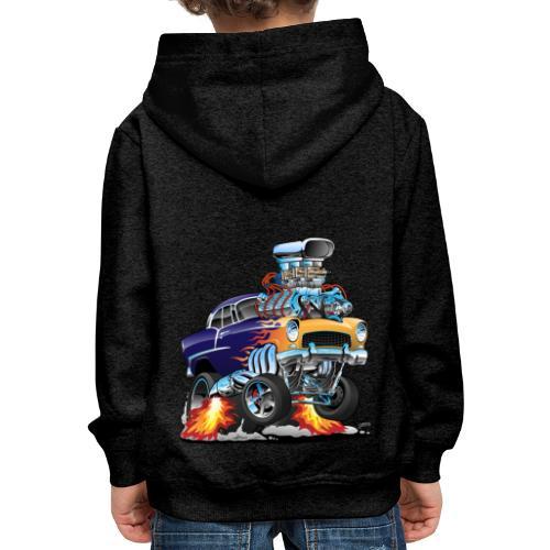 Classic Fifties Hot Rod Muscle Car Cartoon - Kids' Premium Hoodie