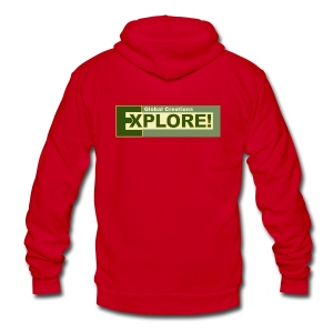 Explore Logo - Unisex Fleece Zip Hoodie by American Apparel