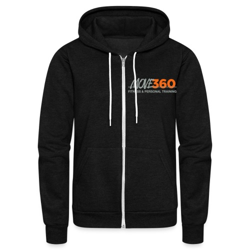 Move360 Grey - Unisex Fleece Zip Hoodie