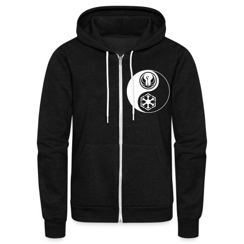 Star Wars SWTOR Yin Yang 1-Color Light - Unisex Fleece Zip Hoodie