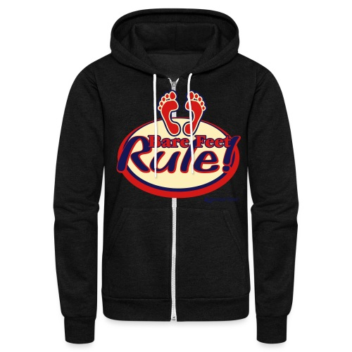 Bare Feet Rule! - Unisex Fleece Zip Hoodie