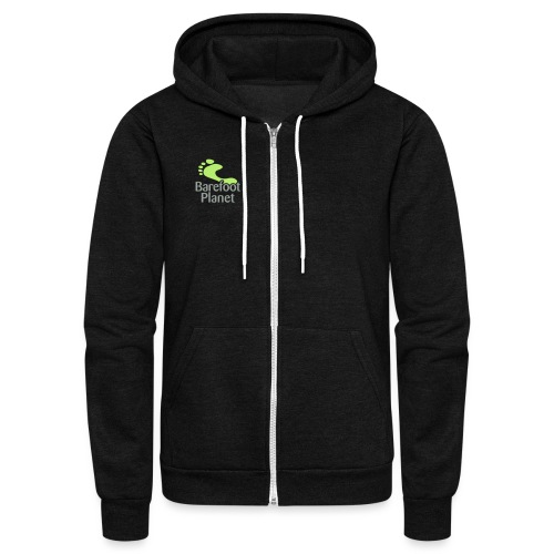 Barefoot Running 1 Women's T-Shirts - Unisex Fleece Zip Hoodie