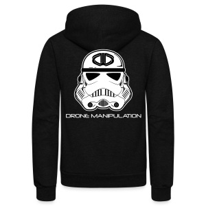 Drone Manipulation - Storm Trooper - Unisex Fleece Zip Hoodie by American Apparel