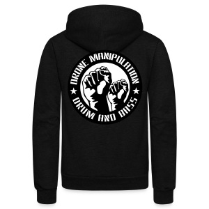 Drone Manipulation FISTS UP - Unisex Fleece Zip Hoodie by American Apparel