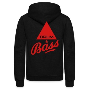 Drum and Bass - Unisex Fleece Zip Hoodie by American Apparel