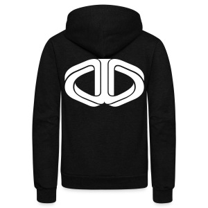 Drone Manipulation Logo - Unisex Fleece Zip Hoodie by American Apparel