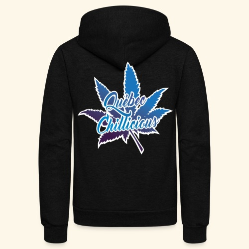 One Leaf Quebec Chillicious clothing brand - Unisex Fleece Zip Hoodie