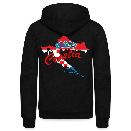 Croatia Football Team Colours T-Shirt Treasure Des - Unisex Fleece Zip Hoodie