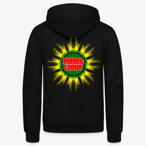Planet Lucha Logo - Unisex Fleece Zip Hoodie