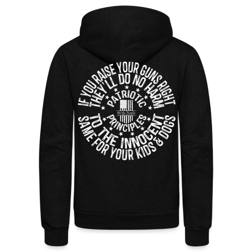 OTHER COLORS AVAILABLE IF YOU RAISE YOUR GUNS RI - Unisex Fleece Zip Hoodie