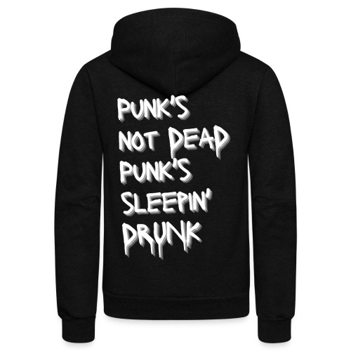 Punk's Not Dead Punk's Sleepin' Drunk - Unisex Fleece Zip Hoodie