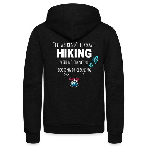 Forecast for the Weekend: Hiking - Unisex Fleece Zip Hoodie