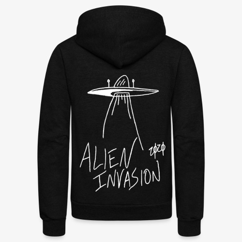 alien invasion inv - Unisex Fleece Zip Hoodie