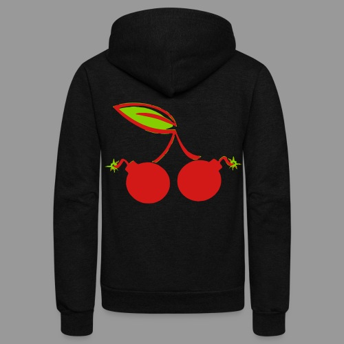 Cherry Bomb - Unisex Fleece Zip Hoodie