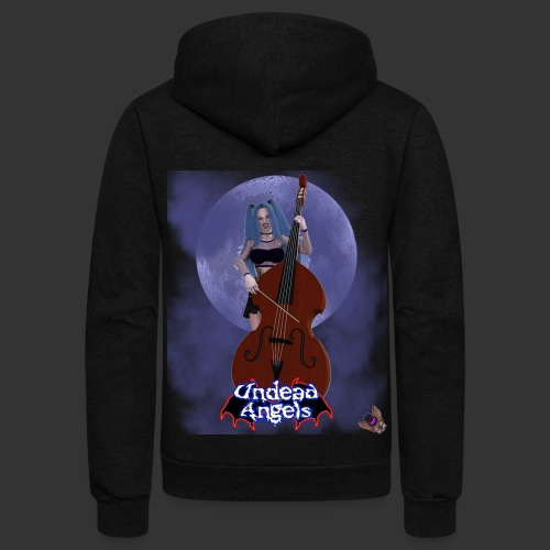 Undead Angels: Vampire Bassist Ashley Full Moon - Unisex Fleece Zip Hoodie