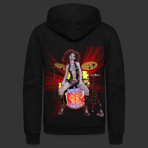 Happily Ever Undead: Bella Bloodlust Drummer - Unisex Fleece Zip Hoodie