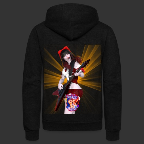 Happily Ever Undead: Crimson Snow Guitarist - Unisex Fleece Zip Hoodie