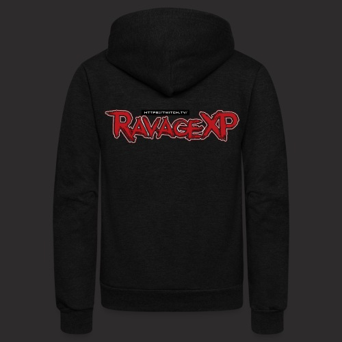 RavageXP Text - Unisex Fleece Zip Hoodie