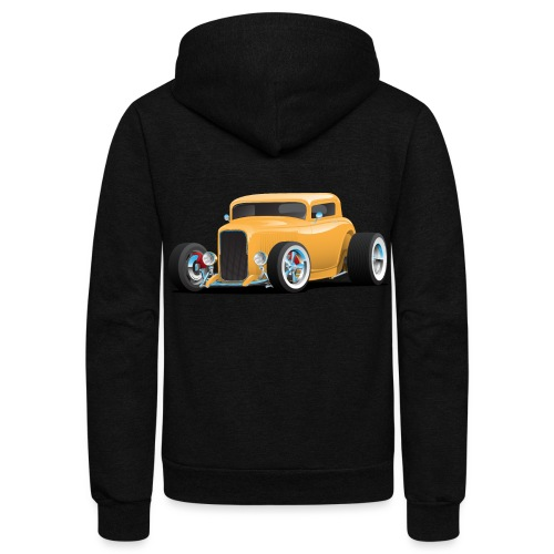 Classic American 32 Hotrod Car Illustration - Unisex Fleece Zip Hoodie
