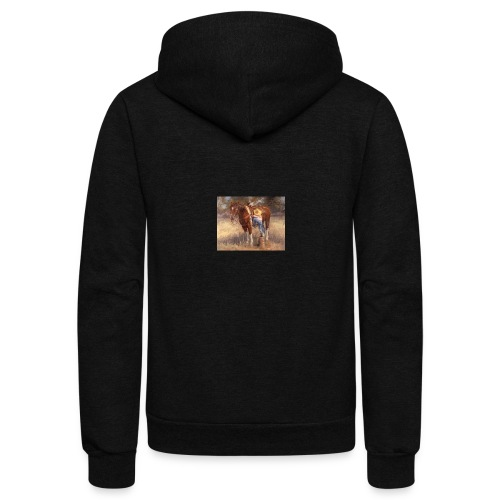Little Cowgirl - Unisex Fleece Zip Hoodie