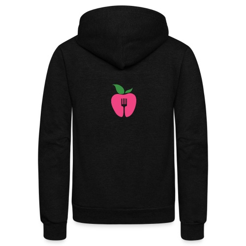 Eat. Socially. - Black T - Unisex Fleece Zip Hoodie