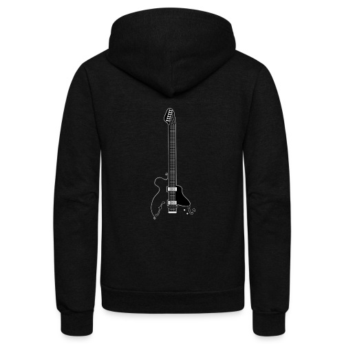 Electric Guitar - Unisex Fleece Zip Hoodie