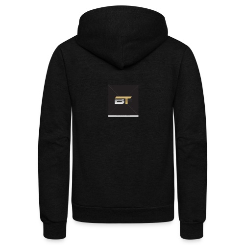 BT logo golden - Unisex Fleece Zip Hoodie