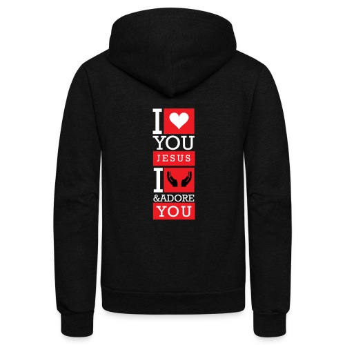 I Love You Jesus - Unisex Fleece Zip Hoodie