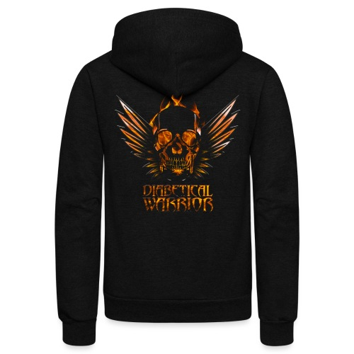 Diabetical Warrior - Unisex Fleece Zip Hoodie