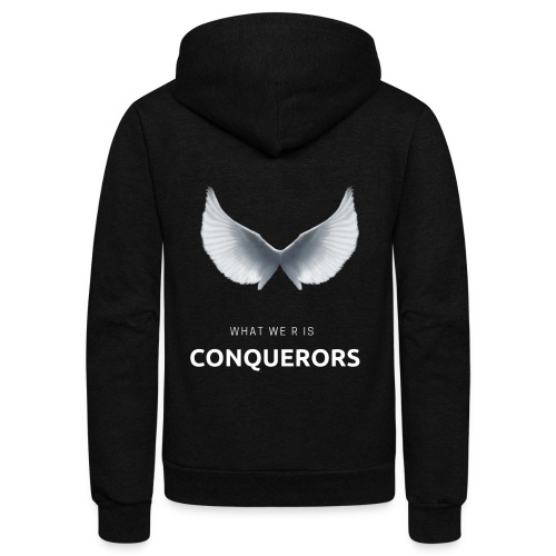 what we r is conquerors black line - Unisex Fleece Zip Hoodie