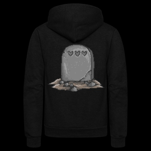 No Life Left | Funny Gamer Grave - Unisex Fleece Zip Hoodie