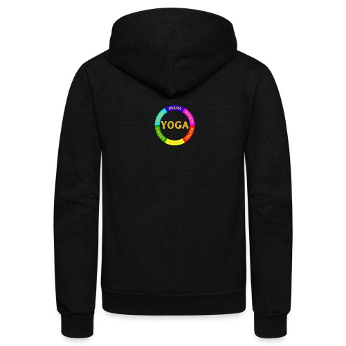 6 ways of Yoga - Unisex Fleece Zip Hoodie