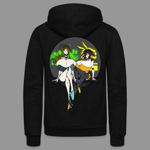 Leiur and Phara Tiddy Bunsuit - Unisex Fleece Zip Hoodie