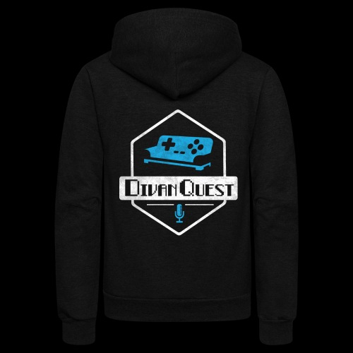 DivanQuest Logo (Badge) - Unisex Fleece Zip Hoodie