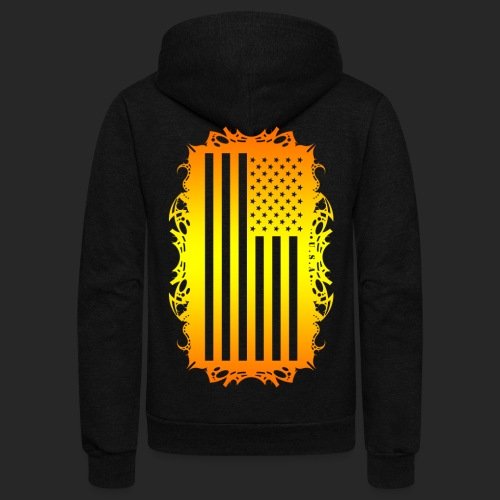 Wicked Dano US Flag - Unisex Fleece Zip Hoodie