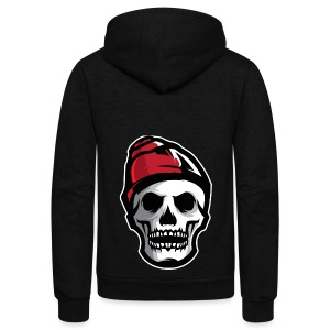 Custom Skull With Ice Cap Merch! - Unisex Fleece Zip Hoodie by American Apparel