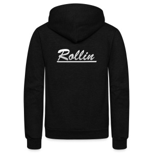 Rollin Logo Logo - Unisex Fleece Zip Hoodie by American Apparel