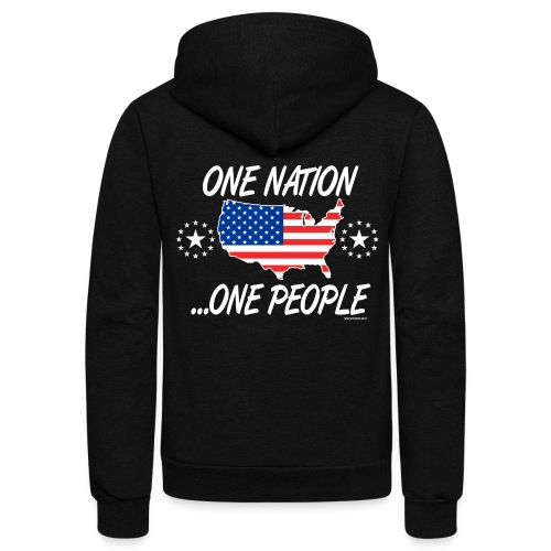 One Nation One People 2012 FRONT TRANSPARENT BACKG - Unisex Fleece Zip Hoodie