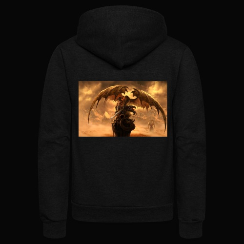 Dragon féroce - Unisex Fleece Zip Hoodie