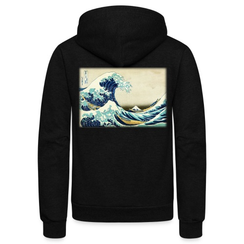 Great Wave off Kanagawa - Unisex Fleece Zip Hoodie