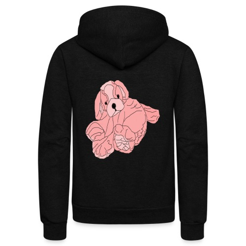 Soft Pink Puppy - Unisex Fleece Zip Hoodie