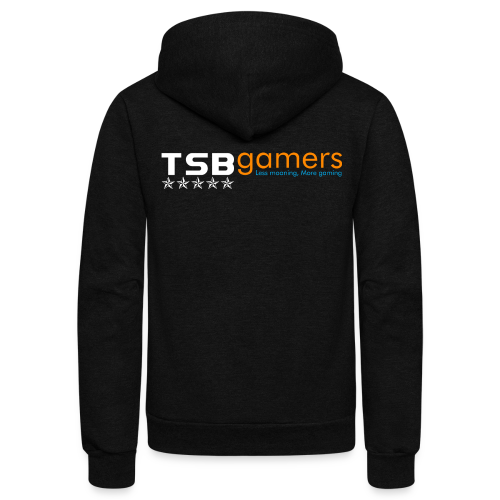 TSB White Website Logo FullColor - Unisex Fleece Zip Hoodie