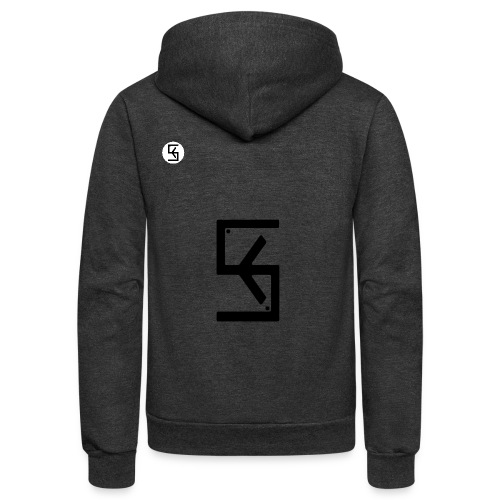 Soft Kore Logo Black - Unisex Fleece Zip Hoodie