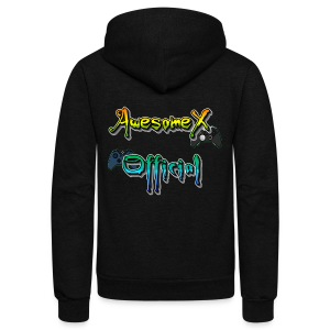 Official AwesomeX Logo Clothing - Unisex Fleece Zip Hoodie