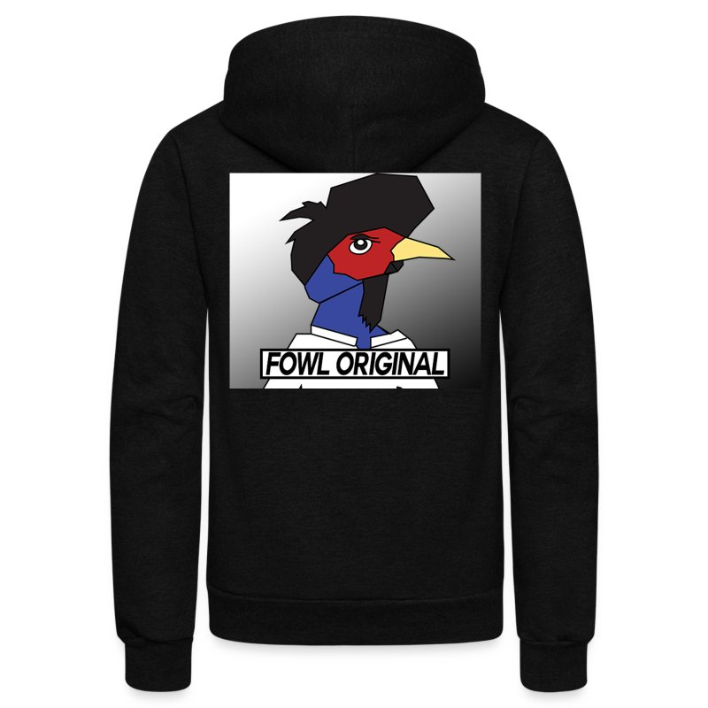 Fowl Original Logo - Unisex Fleece Zip Hoodie by American Apparel